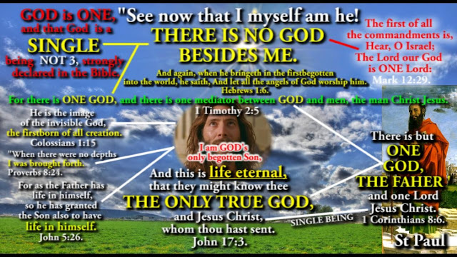 """See now that I myself am he!  THERE IS NO GOD BESIDES ME.  Deuteronomy 32:39."