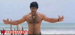 Prabhas six pack body in Chatrapati