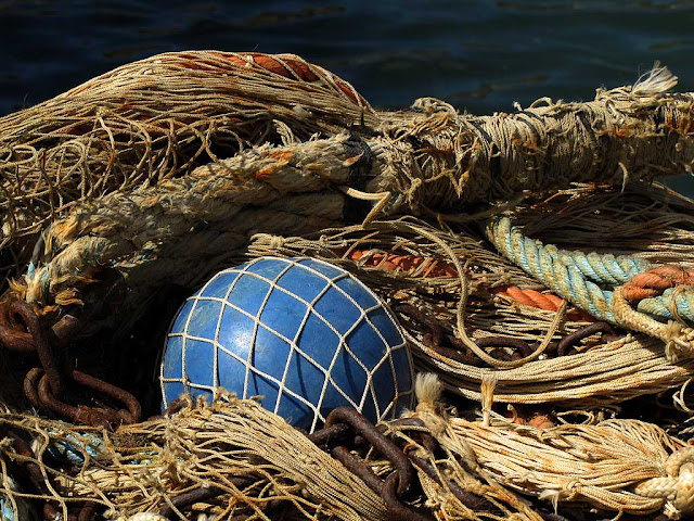 Fishing nets, buoy, Darsena Vecchia, Old Harbor, Livorno