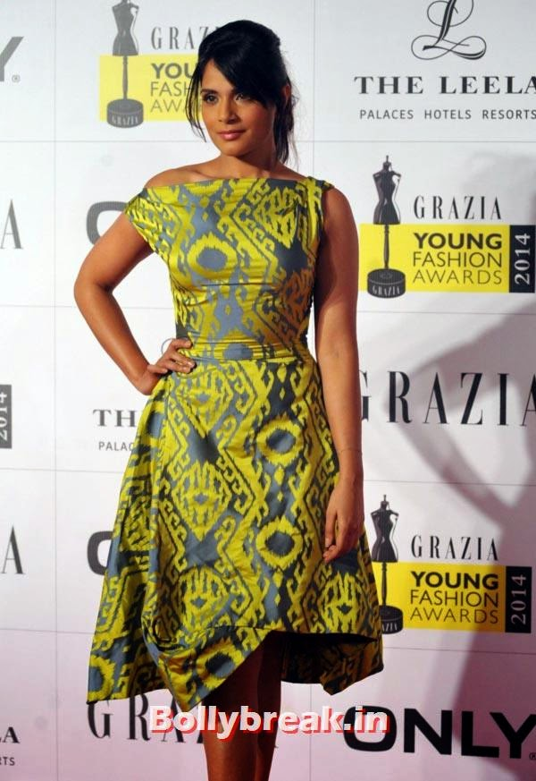 Richa Chaddha, Grazia Young fashion Awards Pics