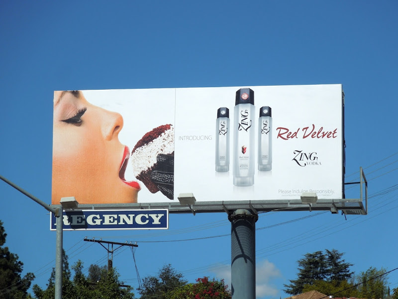 Red Velvet Zing Vodka billboard