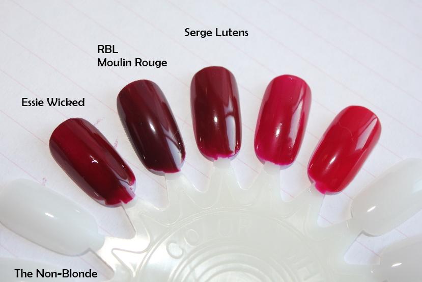 Serge Lutens Nail Lacquer Sang Bleu Dark Red 2 The