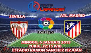 Prediksi Bola Sevilla vs Atletico Madrid 6 Januari 2019