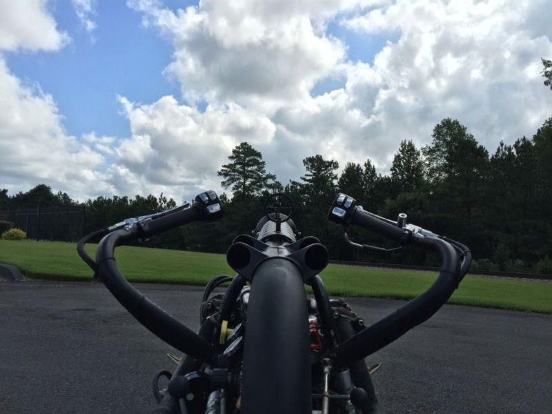 Turbo all-wheel drive diesel motorcycle