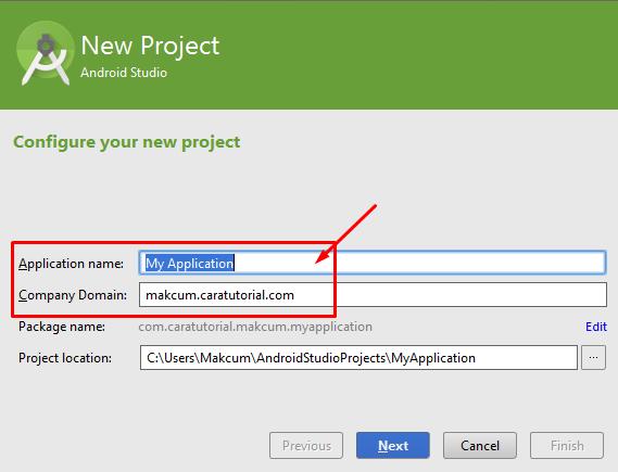 Konfigurasi Project Baru Aplikasi di Android Studio