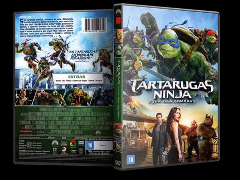 Capa DVD As Tartarugas Ninja - Fora das Sombras
