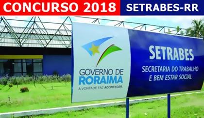 Concurso SETRABES 2018