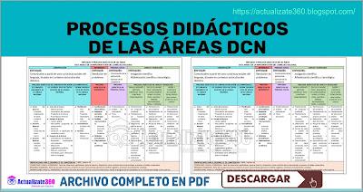 PROCESOS DIDÁCTICOS DE LAS ÁREAS DCN 2019