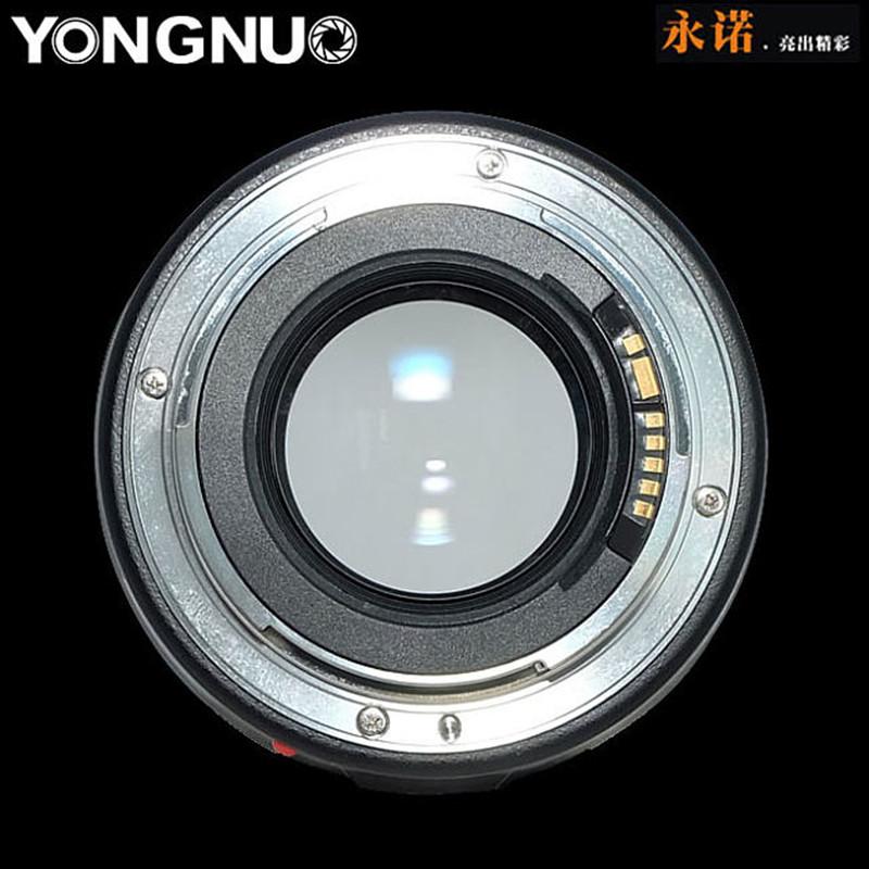 Объектив Yongnuo YN 100mm f/2, вид сзади