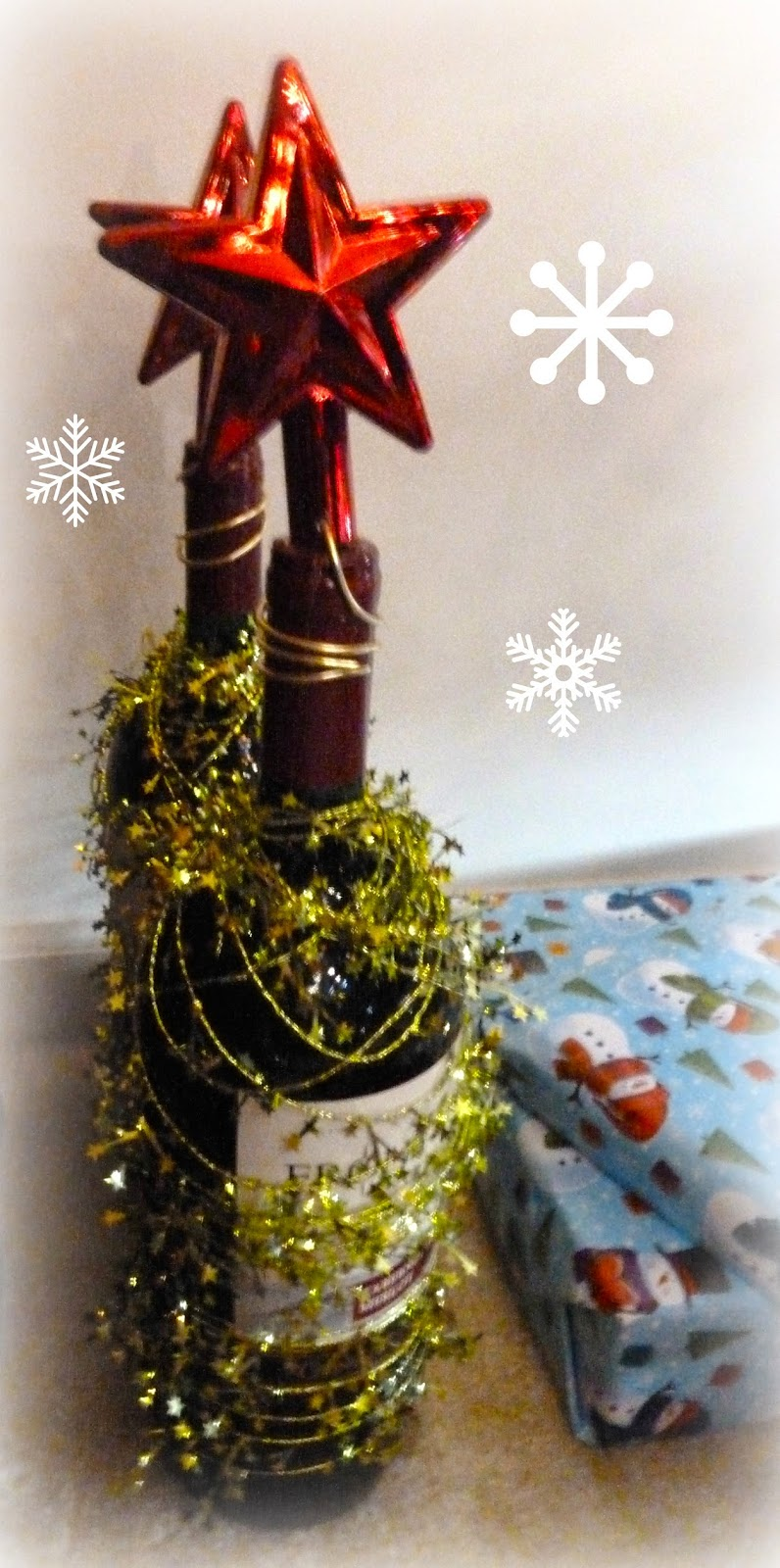 Wine Bottle Christmas Tree Craft.Make It Easy Crafts Christmas Tree Wine Bottle Hostess Gift