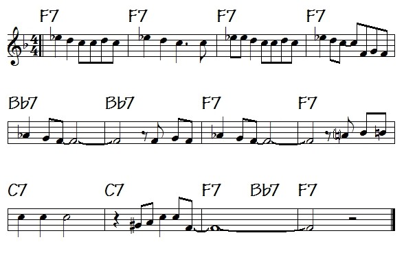 Pops Coffee's Traditional Jazz: Post 218: THE 12-BAR BLUES STRUCTURE