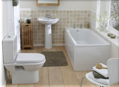 Desain Kamar Mandi Ukuran Kecil Pakai Bathup