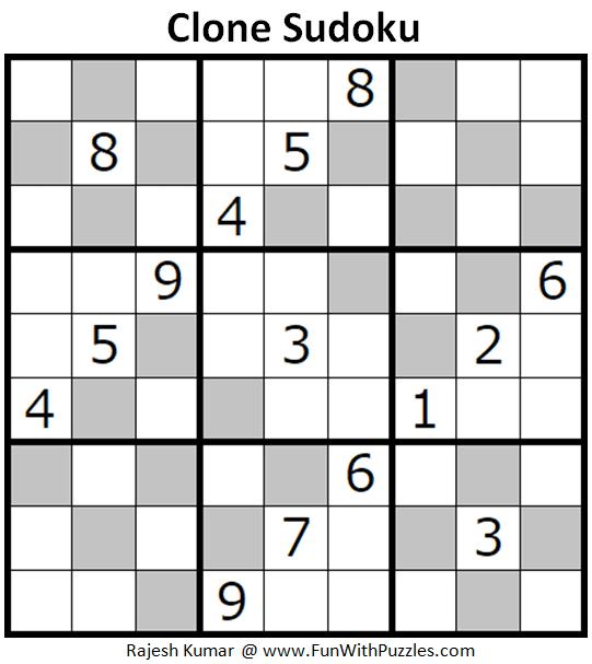 Clone Sudoku Puzzle (Fun With Sudoku #282)