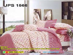 Sprei Custom Katun Jepang Dewasa Bunga Pattern Rose Classic Pink Putih