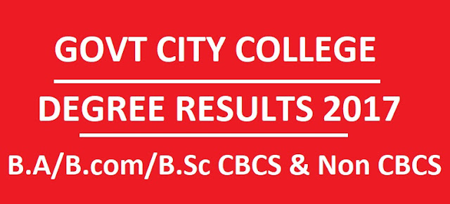Govt City College Degree Results