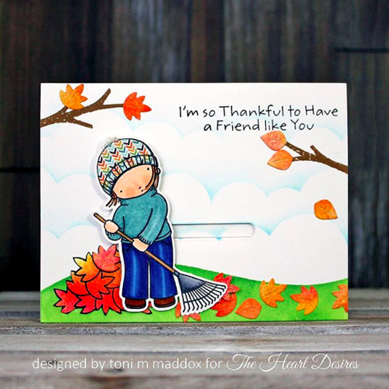 Pure Innocence Thankful Friend stamp set and Die-namics - Toni Maddox #mftstamps