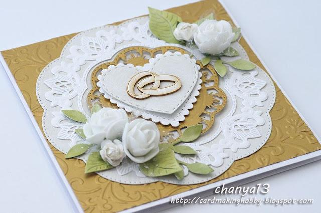 Złota kartka na ślub