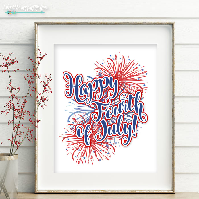 Happy Fourth of July Printable Artwork