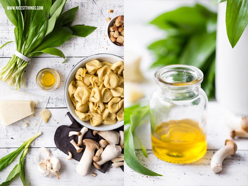 Pasta Rezept Nudeln mit Bärlauch und Pilzen