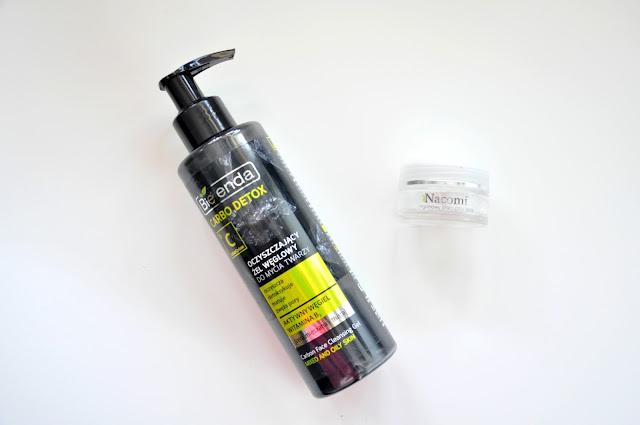 oczyszczający żel węglowy do mycia twarzy bielenda carbo detox i arganowy krem pod oczy nacomi