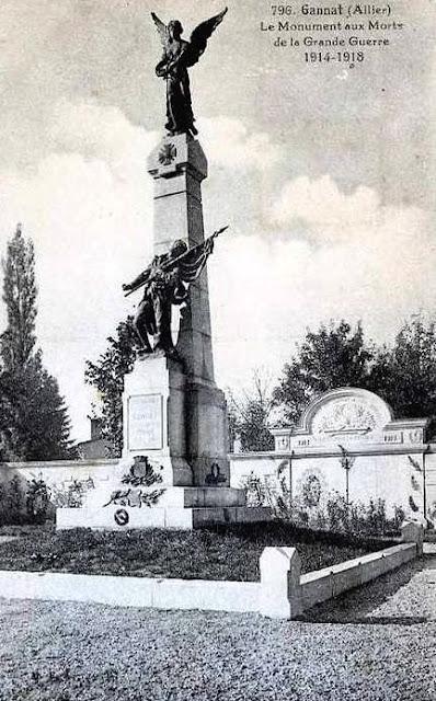 CPA monuments aux Morts de l'Allier, Gannat