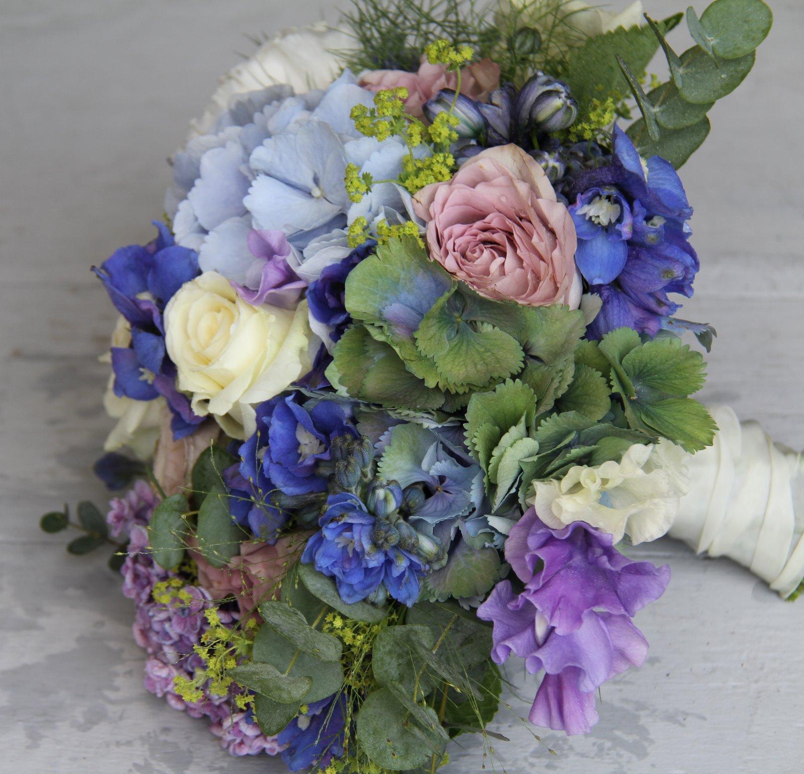 The Flower Magician Blue Lavender Wedding Bouquet