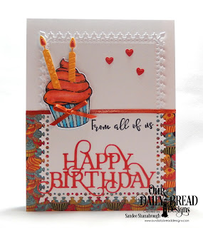 Our Daily Bread Designs Stamp/Die Duos: All God's Blessings, Custom Dies: Happy Birthday Caps, Birthday Candles, Clouds and Raindrops, Lavish Layers, Paper Collections: Birthday Bash, Birthday Brights