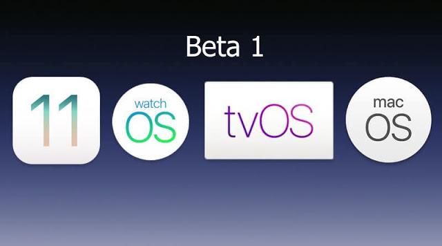 iOS 11.1, macOS 10.13.1, watchOS 4.1, tvOS 11.1 تنزيل روابط بيتا