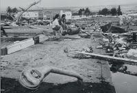 Daños del tsunami en Hilo (Hawaii)