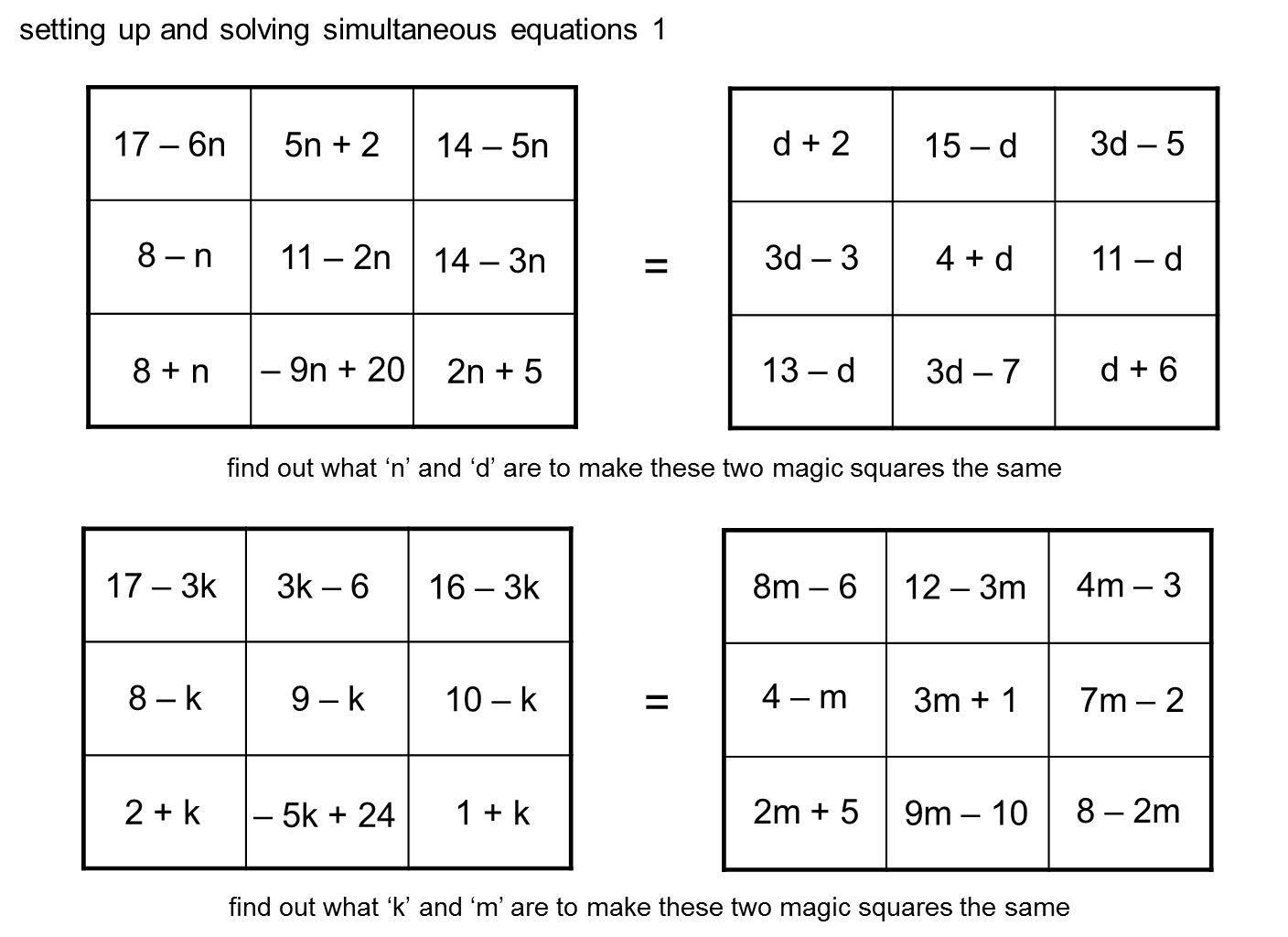 How To Solve Simultaneous Equations With 2 Squares