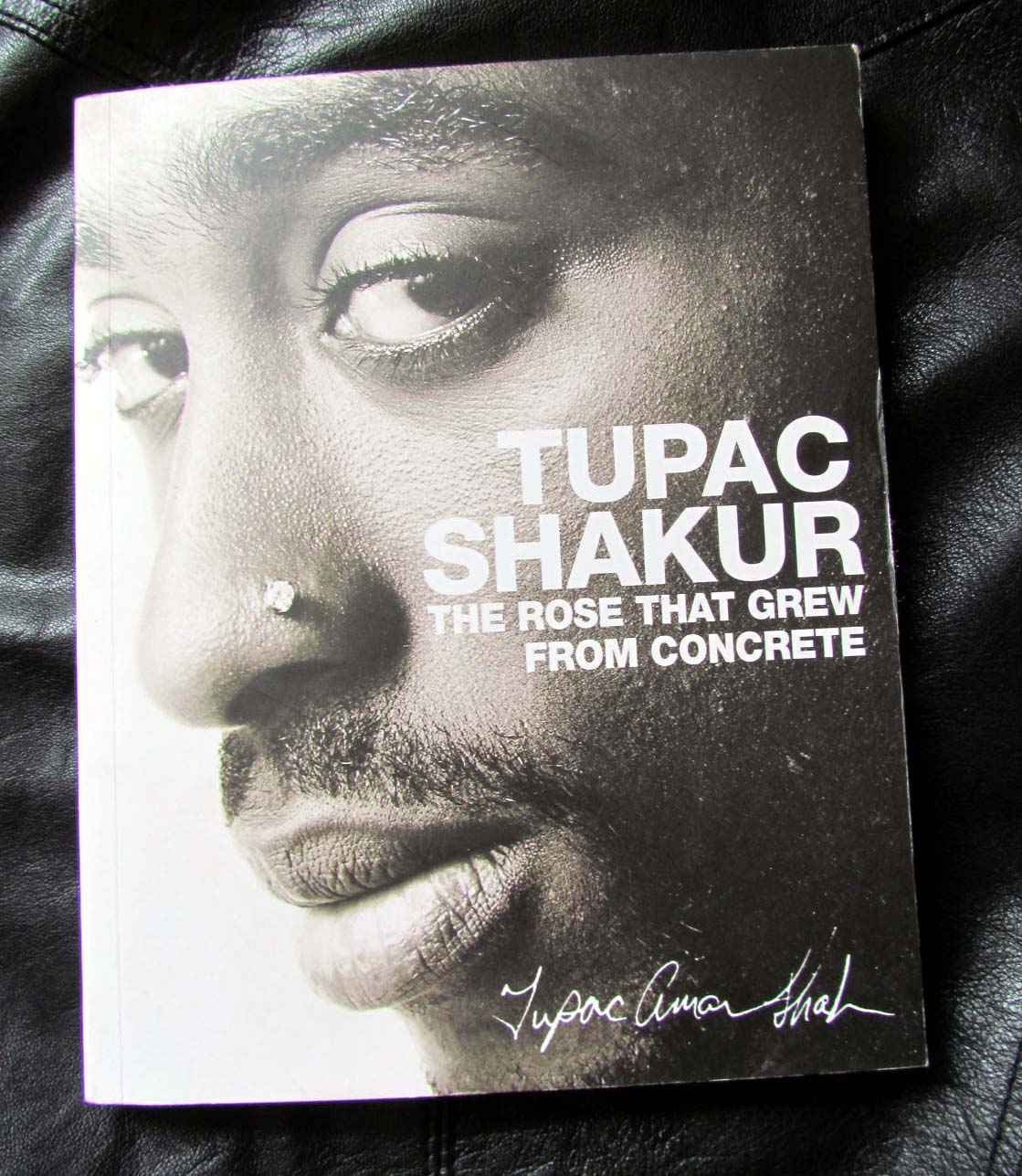 Tupac Shakur, study, poetry, leather, The Rose That Grew From Concrete,