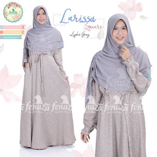 Gamis Fenuza Larissa Square Light Grey