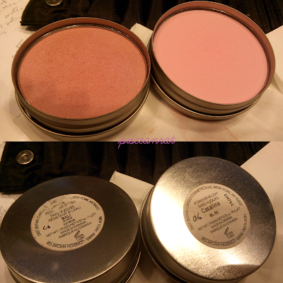 Cargo Swimmables Blush in Bali (left) and Powder Blush in Catalina (right).