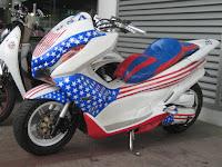 Modifikasi Honda PCX 150 Desain Touring