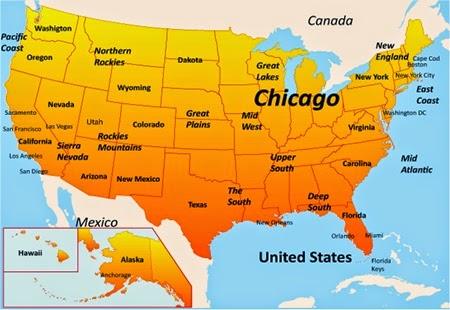 Şikago Dünyanın Neresinde. Şikago'ya Gidecegiz.