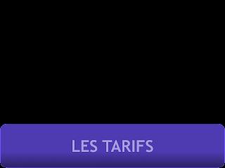 tarifs