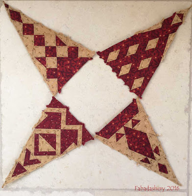 Dear Jane Quilt - Draw 25 - Border Triangles LR2, RR2, LR12, RR12