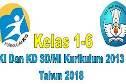 KI Dan KD SD/MI Kurikulum 2013 Tahun 2018