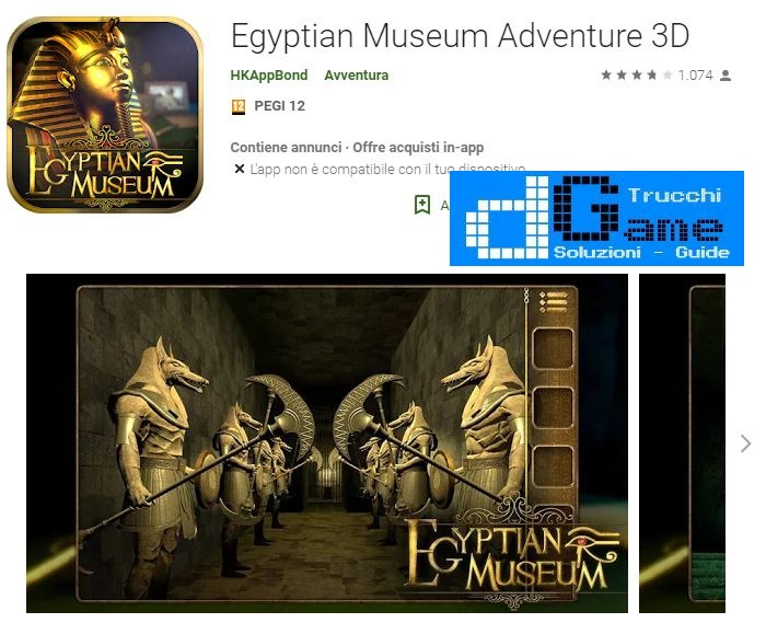 Soluzioni Egyptian Museum Adventure 3D di tutti i livelli | Walkthrough guide