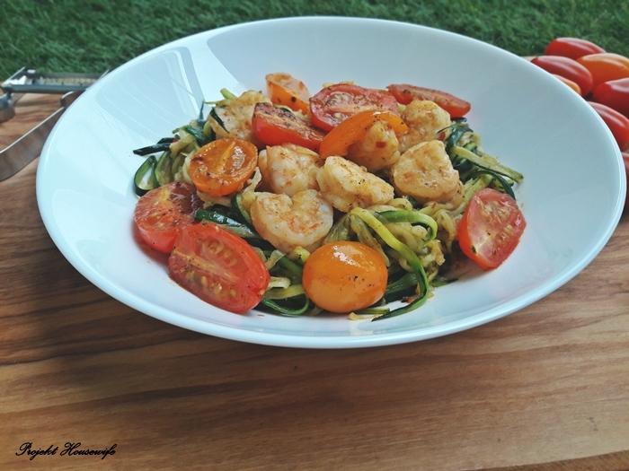 Spaghetti z cukinii z krewetkami - smacznie, lekko i zdrowo