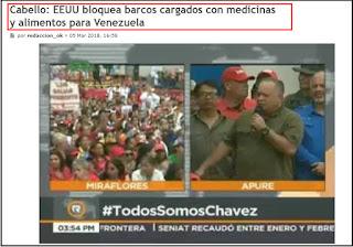 pretexto corrupción bloqueo alimentos y medicinas