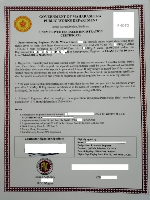 pwd contractor licence