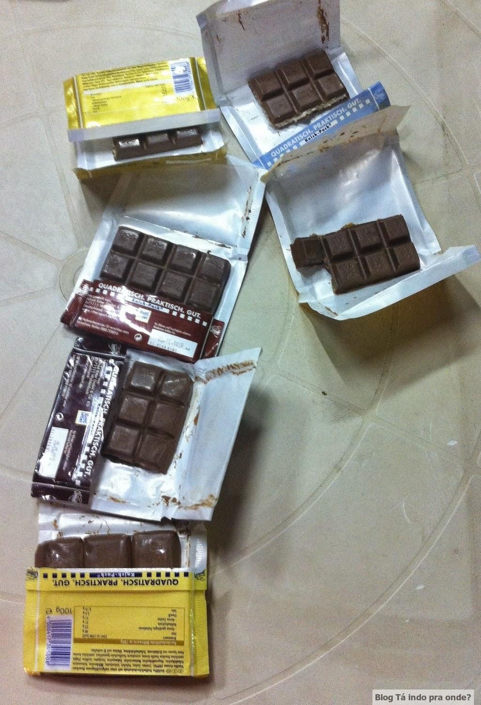 chocolates da Ritter Sport