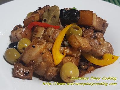 Pork Adobo with Olives