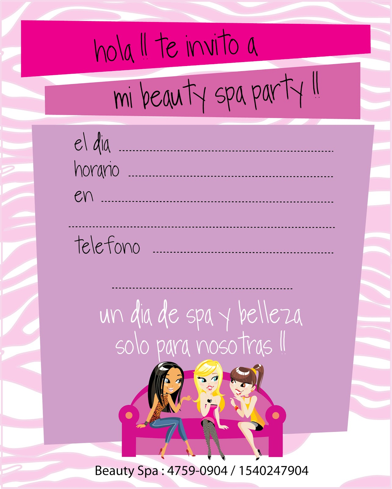 Chiky Bambini Spa Party De Glamour