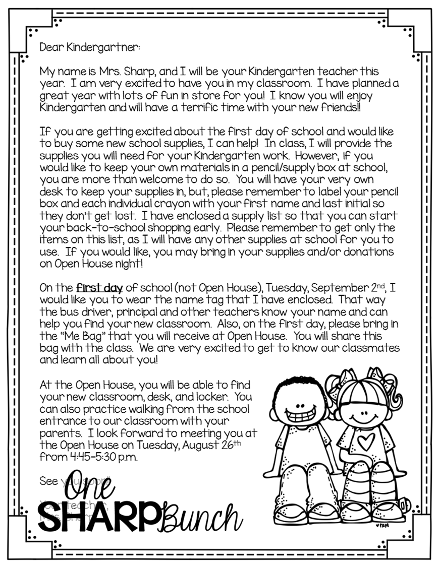 thank you letter for kindergarten teacher | just b.CAUSE