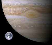 Comparison of the Earth to the Great Red Spot of Jupiter