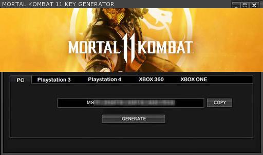 MORTAL KOMBAT 11 KEY GENERATOR KEYGEN FOR FULL GAME + CRACK