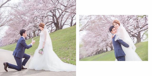 日本京都婚紗櫻花季花期攝影寫真
