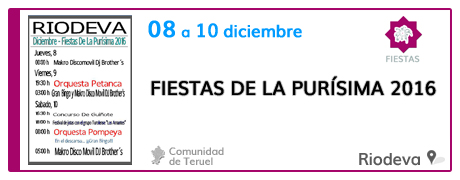 Fiestas de La Purísima 2016 en Riodeva